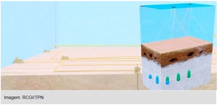 imagem do sistema do armazenamento do CO2 no pré sal