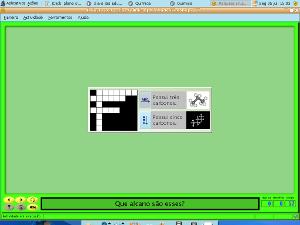 Imagem da captura de tela do software JClic com uma palavra cruzada criada nele.