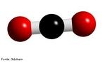 O di�xido de carbono � essencial � vida no planeta. Visto que � um dos compostos essenciais para a realiza��o da fotoss�ntese - processo pelo qual os organismos fotossintetizantes transformam a energia solar em energia qu�mica. Representa��o em 3D de uma mol�cula de di�xido de carbono. <br/><br/> Palavras-chave: Mol�cula. G�s carb�nico. Tabela peri�dica.