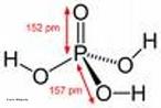 Representa��o da mol�cula de �cido fosf�rico ou �cido ortofosf�rico � um composto qu�mico f�rmula molecular H3PO4. � o �cido de f�sforo mais importante. Dentre os �cidos minerais, pode ser considerado um �cido mais fraco. A partir do �cido fosf�rico derivam-se o �cido difosf�rico ou pirofosf�rico, o �cido metafosf�rico e o �cido polifosf�rico. <br/><br/> Palavras-chave: �cido fosf�rico. �cido. Fun��es inorg�nicas. Oxi�cidos.