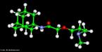 Representação tridimensional da molécula de Tromantadina. Antiviral derivado da amantadina que tem atividade contra o vírus do herpes simples e o do herpes zóster. Indicado para infecções da pele e mucosas pelo vírus do herpes simples, principalmente na fase precoce e nas reinfecções. Eczema herpético. Manifestações dérmicas do herpes zoster. Nomenclatura IUPAC:N-1-adamantil-N-[2-(dimethylamino)ethoxy]acetamida Fórmula Molecular: C16H28N2O2. Massa Molar: 280,406 g/mol. <br/><br/> Palavras-chave: Moléculas. Tromantadina. Substâncias químicas. Medicamentos. Drogas.