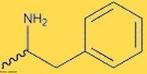 Representação de uma molécula de anfetamina (1-fenilpropano-2-amina). A anfetamina tem sido usada em massa em tratamentos para emagrecer, já que a droga é temporariamente eficaz na supressão do apetite. <br/><br/> Palavras-chave: Anfetamina. Droga. Funções químicas.