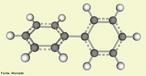 Molécula de bifenila é o hidrocarboneto aromático em que dois anéis benzênicos estão ligados por uma ligação simples. <br/><br/> Palavras-chave: Química do carbono. Bifenila. Molécula.