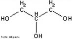Imagem que mostra a fórmula estrutural do glicerol ou Propano-1,2,3-triol (IUPAC, 1993) que é um composto orgânico pertencente à função álcool. <br/><br/> Palavras-chave: Funções oxigenadas. Glicerol.