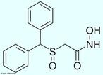 Representação da molécula de Adrafinil, uma droga estimulante leve do Sistema Nervoso Central, utilizada para diminuir a sonolência e a falta de atenção de pacientes idosos. Também é utilizada como &quot;rebite&quot; para pessoas que pretendem se manter alertas por longos períodos, sem dormir. Fórmula molecular C15H15NO3S. Massa molar 289,351 g/mol. Nomenclatura IUPAC (sistemática) 2-benzhydrylsulfinylethanehydroxamic acid. <br/><br/> Palavras-chave: Adrafinil. Medicamentos. Química orgânica. Doping.