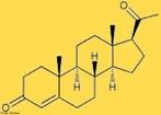 Molécula da Progesterona que é um hormônio esteróide produzido, a partir da puberdade, pelo corpo lúteo e pela placenta durante a gravidez. <br/><br/> Palavras-chave: Progesterona. Hormônio. Biologia.