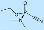 Tabun é um gás, utilizado como arma química, descoberto na Segunda Guerra Mundial. É uma substância muito tóxica, sendo uma substância incolor e de fraco odor. É classificado pelas Nações Unidas como arma de destruição em massa, segundo a Resolução 687 da ONU. <br/><br/> Palavras-chave: Tabun. Guerra química. Arma química.