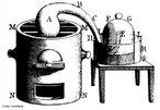 Desenho a m�o, gravura feita por Lavoisier, Madamme, no s�culo 18, � vista em &quot;Trait� de chimie �l�mentaire&quot; recuperados de Lavoisier,  realizou seu experimento cl�ssico de doze dias em 1779 que se tornou famosa na hist�ria. Primeiro, Lavoisier merc�rio aquecido puro em uma r�plica de cisne de pesco�o longo de um forno de carv�o vegetal para 12 dias. Um �xido vermelho de merc�rio foi formado na superf�cie do merc�rio na retorta. Quando n�o h� mais p� vermelha foi formada, Lavoisier observou que cerca de um quinto do ar foram utilizadas e de que o g�s remanescente n�o suportar a vida ou a queima. Lavoisier chamou este azote g�s �ltimo. (Do grego 'a' e 'zoe' = sem vida). Ele removeu o �xido vermelho de merc�rio, com cuidado e aquecida em uma retorta semelhantes. Ele obteve exatamente o mesmo volume de g�s que desapareceu no �ltimo experimento. Ele descobriu que o g�s causou as chamas para queimar de forma brilhante, e animais de pequeno porte atuaram em como Joseph Priestley havia nota do em sua experi�ncia. Finalmente, em misturar os dois tipos de g�s, ou seja, o g�s restante na primeira experi�ncia, e que fora dada no segundo experimento, ele tem uma mistura semelhante ao ar em todos os aspectos. Em seus experimentos Lavoisier analisados ar em duas componentes: uma que sustenta a vida e � combust�o, e um quinto pelo volume de ar que ele chamou de oxig�nio (do grego = �cido <em>Amu D�ria, gen</em> = gerar), os outros quatro quintos, que n�o ele chamou de azote. Este �ltimo g�s � agora chamado de nitrog�nio. A partir dos dois gases ele sintetizou algo que tenha as caracter�sticas do ar. <br/><br/> Palavras-chave: Lavoisier. Hist�ria da qu�mica. Decomposi��o do ar. Oxig�nio.
