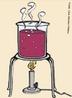 Ilustra��o do livro did�tico p�blico que mostra um experimento sendo realizado, uma solu��o sob aquecimento. <br/><br/> Palavras-chave: Experimento. Velocidade das rea��es. Rea��es qu�micas.