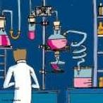 Ilustra��o representando um profissional da Qu�mica em seu ambiente de trabalho, o laborat�rio realizando an�lises. <br/><br/> Palavras-chave: Profissional da qu�mica. Qu�mico. Laborat�rio.